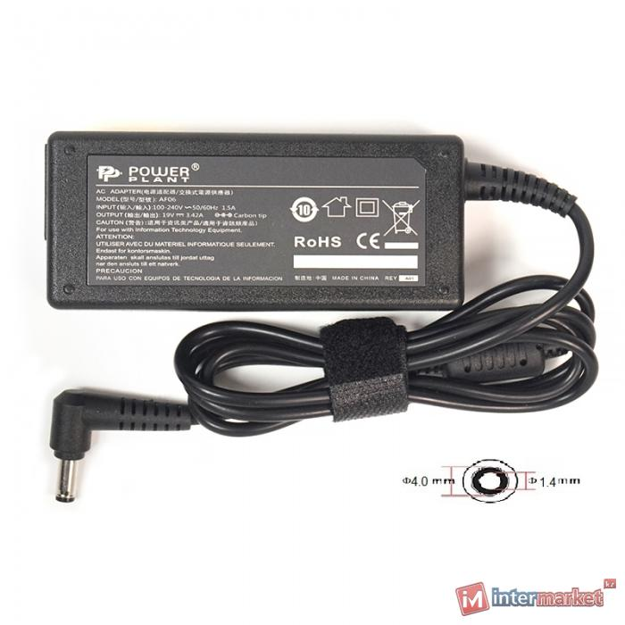 Блок питания для ноутбуков PowerPlant ASUS 220V, 19V 65W 3.42A (4.01.35)